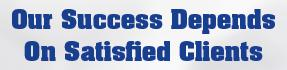 Our Success Depends on Satisfied Clients